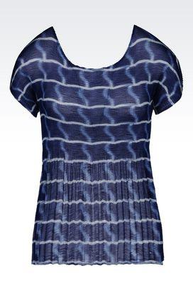 Armani Print shirts Women top in plissé georgette