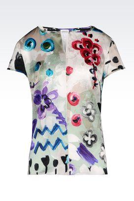 Armani Print shirts Women top in printed satin