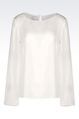 Armani Long sleeve shirts Women silk blouse