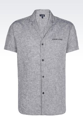 Armani Short sleeve shirts Men cotton linen shirt