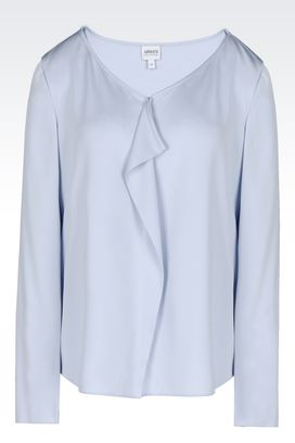 Armani Blouses Women shirt in silk charmeuse
