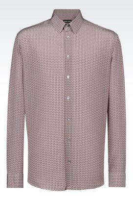 Armani Shirts Men shirt in crêpe de chine