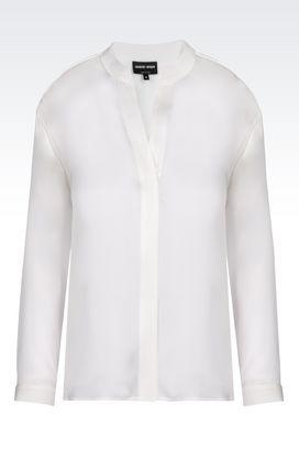 Armani Shirts Women blouse in charmeuse