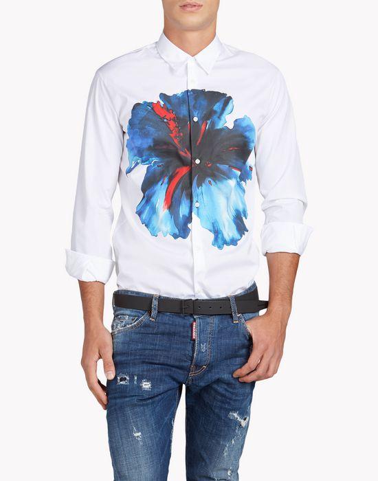 blue hibiscus relax dan shirt shirts Man Dsquared2