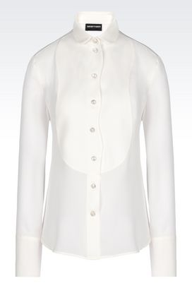 Armani Long sleeve shirts Women blouse in silk georgette
