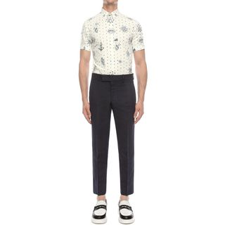 ALEXANDER MCQUEEN, Short Sleeve Shirt, Tattoo Print Shirt