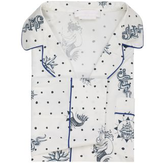 ALEXANDER MCQUEEN, Long Sleeve Shirt, Tattoo Print Pajama Shirt