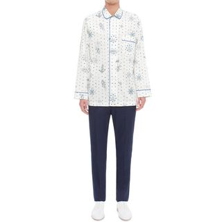 ALEXANDER MCQUEEN, Long Sleeve Shirt, Tattoo Print Pyjama Shirt