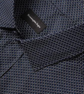 ERMENEGILDO ZEGNA: Casual Shirt Blue - 38518142KV