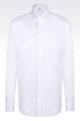 Armani Long sleeve shirts Men dress shirt in cotton