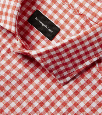 ERMENEGILDO ZEGNA: Casual Shirt Brick red - 38525173MH