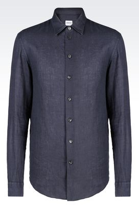 Armani Long sleeve shirts Men linen shirt