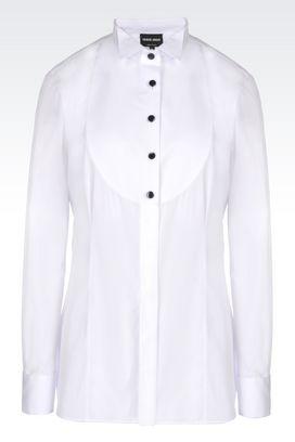 Armani Shirts Women dinner shirt in poplin