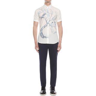 ALEXANDER MCQUEEN, Short Sleeve Shirt, Tree Print Shirt