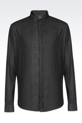 Armani Long sleeve shirts Men extra slim fit shirt in cotton twill
