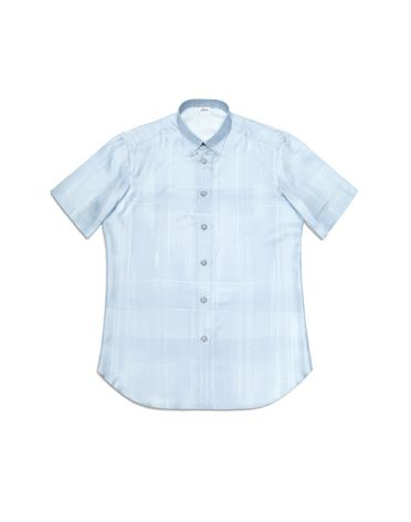Short-sleeve silk shirt