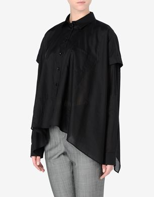 Maison Margiela Cotton muslin cape-blouse
