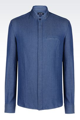 Armani Long sleeve shirts Men jacquard shirt