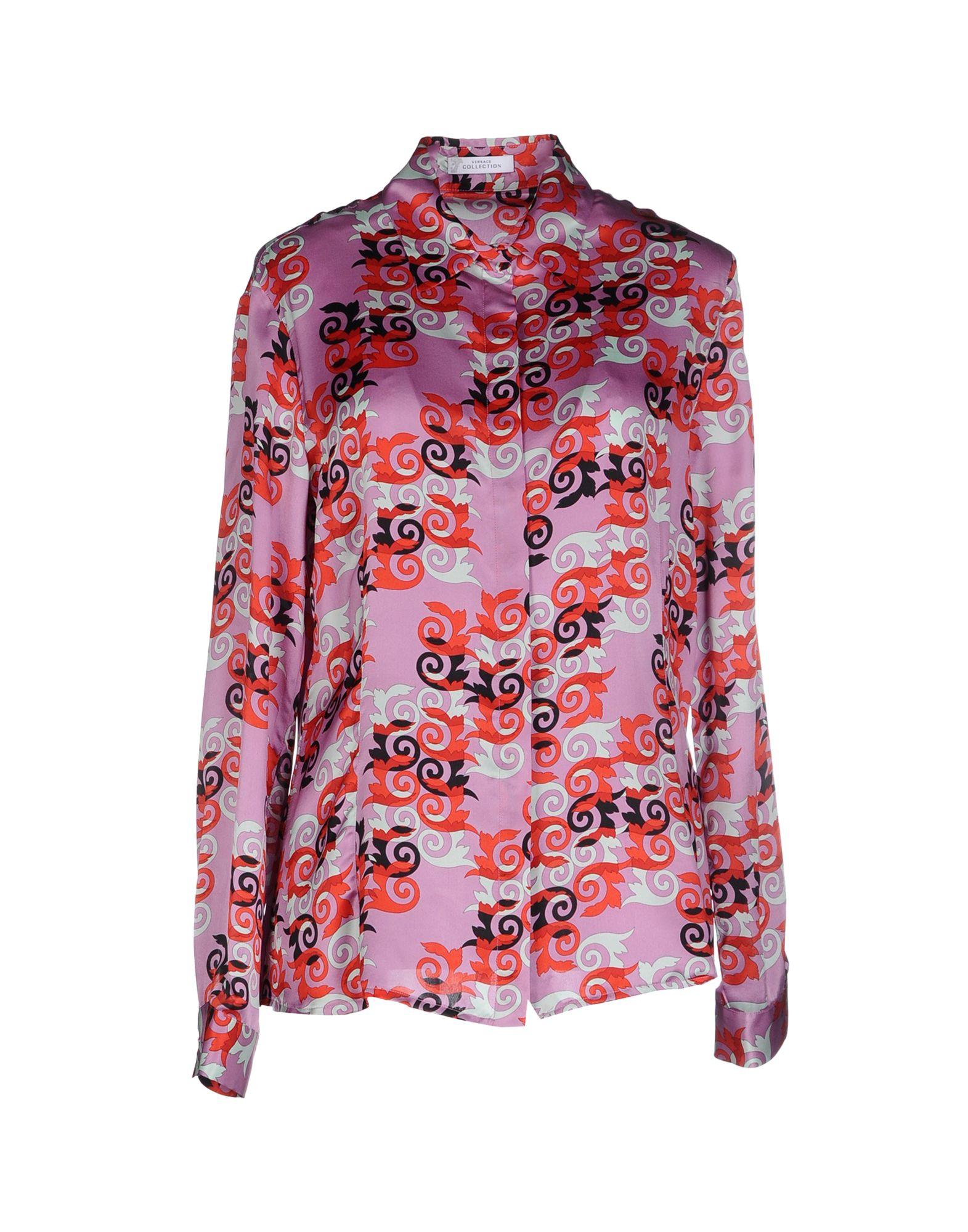 VERSACE COLLECTION Damen Hemd Farbe Violett Größe 5