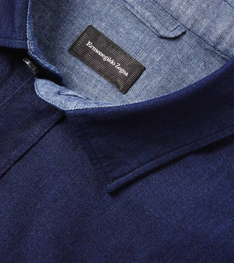 ERMENEGILDO ZEGNA: Casual Shirt Blue - 38536092DP