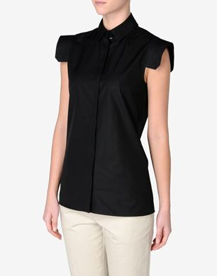 Maison Margiela Cotton poplin blouse with removable collar