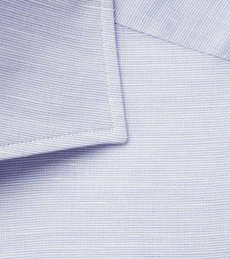 ERMENEGILDO ZEGNA: Formal Shirt Blue - 38537840JG