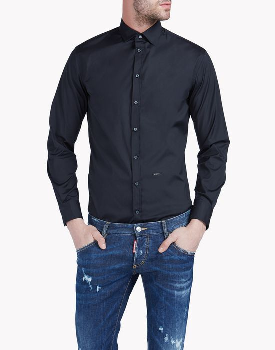 small spread collar mb shirt shirts Man Dsquared2