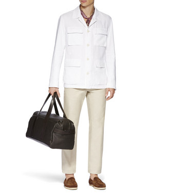 ERMENEGILDO ZEGNA: Fabric Jacket White - 38538979CE