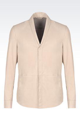 Armani Camicie in pelle Men napa leather shirt