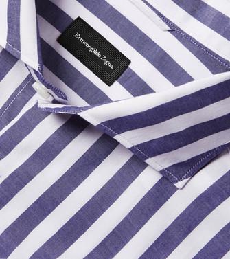 ERMENEGILDO ZEGNA: Casual Shirt Blue - 38540933CI