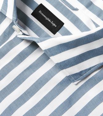 ERMENEGILDO ZEGNA: Casual Shirt Slate blue - 38540934AD