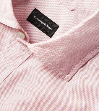 ERMENEGILDO ZEGNA: Casual Shirt Pink - 38541141QV