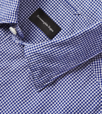 ERMENEGILDO ZEGNA: Casual Shirt Steel grey - 38541383UB