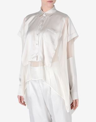 Maison Margiela Silk cape-blouse
