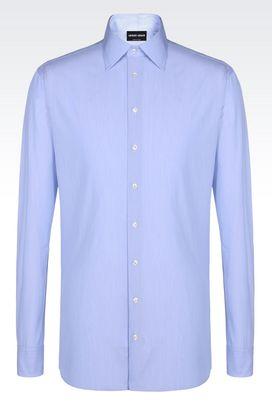 Armani Shirts Men shirt in micro striped cotton