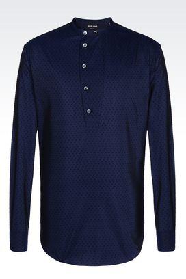 Armani Shirts Men shirt in cotton muslin