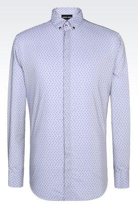 Armani Shirts Men shirt in cotton and silk