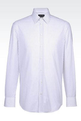 Armani Long sleeve shirts Men regular fit shirt in cotton