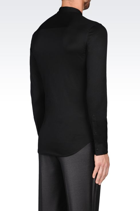 SLIM FIT JERSEY SHIRT: Long sleeve shirts Men by Armani - 3