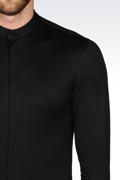SLIM FIT JERSEY SHIRT: Long sleeve shirts Men by Armani - 4