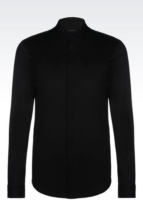 SLIM FIT JERSEY SHIRT: Long sleeve shirts Men by Armani - 1
