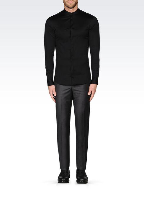 SLIM FIT JERSEY SHIRT: Long sleeve shirts Men by Armani - 2