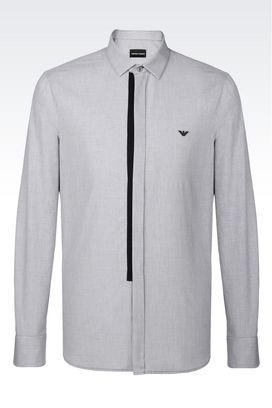 Armani Camicie maniche lunghe Uomo camicia in cotone