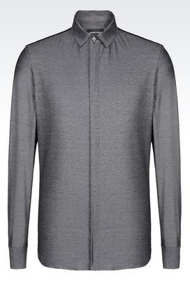 Armani Long sleeve shirts Men slim fit jersey shirt