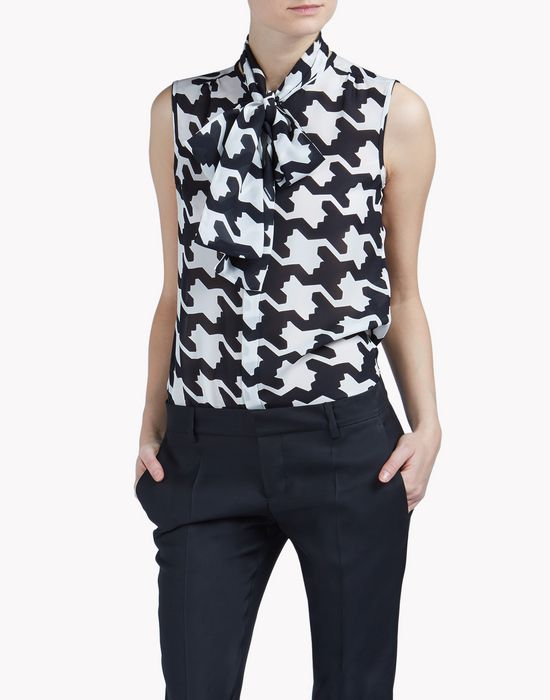 sleeveless bow shirt shirts Woman Dsquared2