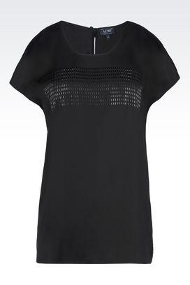 Armani Blouses Women satin t-shirt