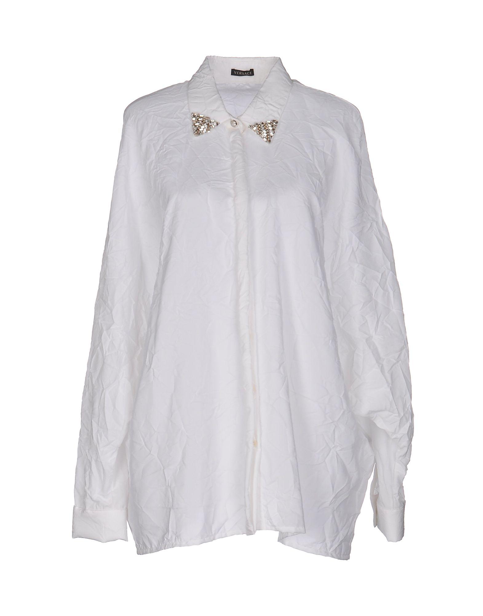 VERSACE Damen Hemd Farbe Weiß Größe 5