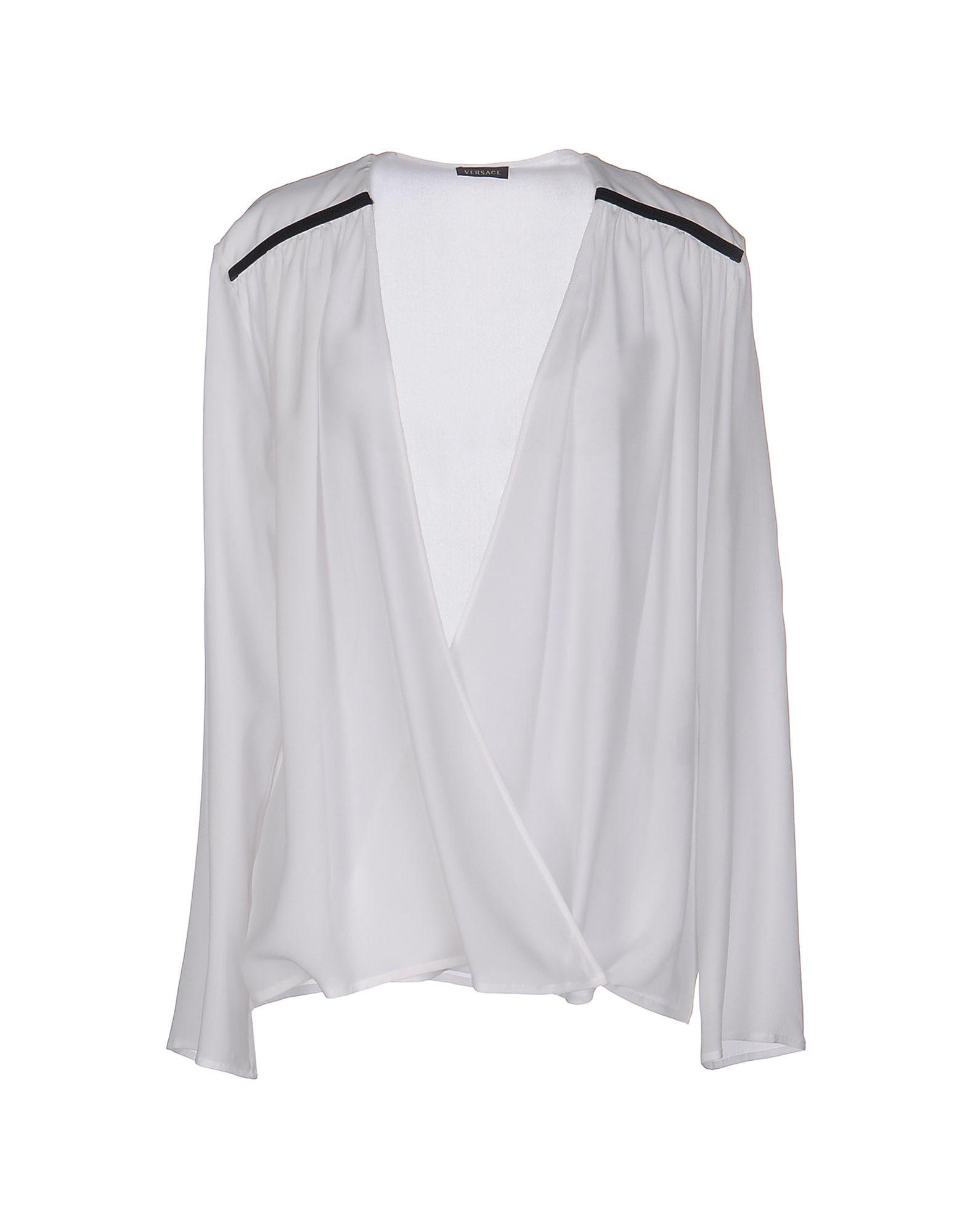 VERSACE Damen Hemd Farbe Weiß Größe 4