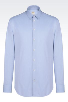 Armani Long sleeve shirts Men shirt in fancy cotton