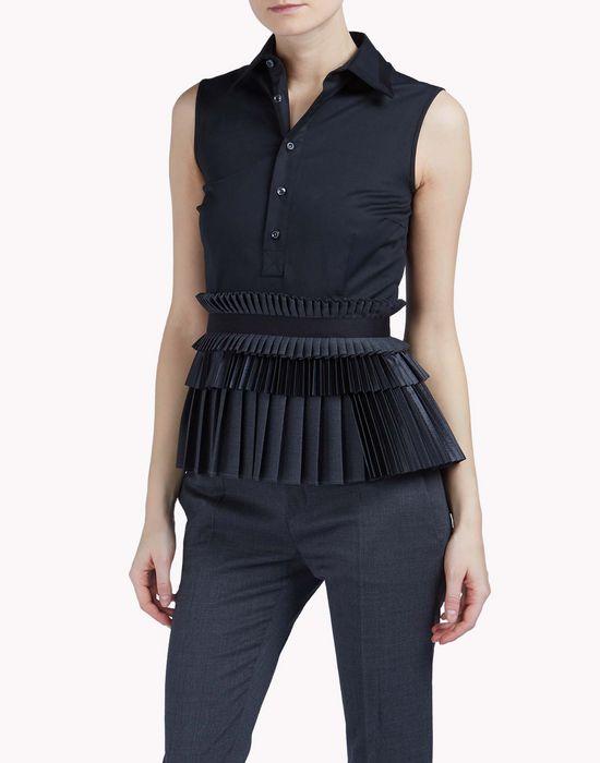 pleated sleeveless shirt shirts Woman Dsquared2